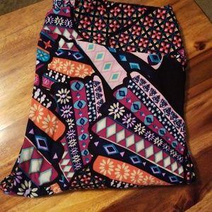 Rare owl patchwork leggings